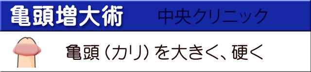 亀頭増大術大宮中央クリニック