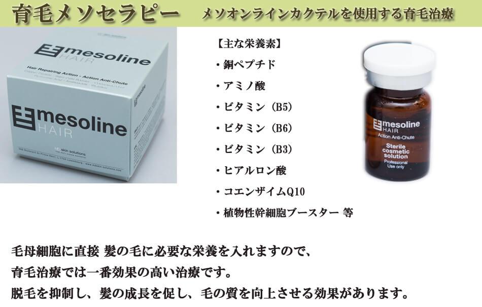 育毛メソセラピー メソラインカクテルを使用する育毛治療